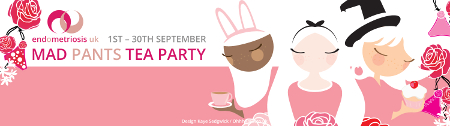 hold a mad pants tea party for endometriosis uk