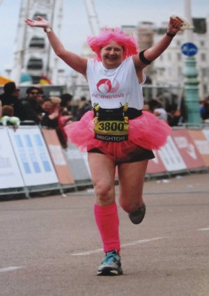 Endometriosis UK fundraiser celebrates crossing the finish line at the Brighton Marathon