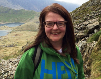 Deborah Hayes climbed Mount Snowdon for Endometriosis UK