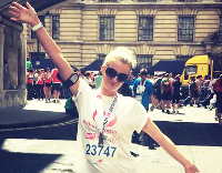 Kim ran the British 10k for Endometriosis UK