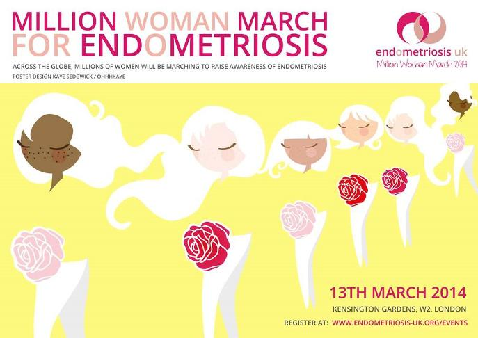 Endometriosis UK Million Woman March