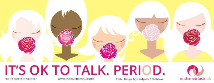 Endometriosis UK campaign poster