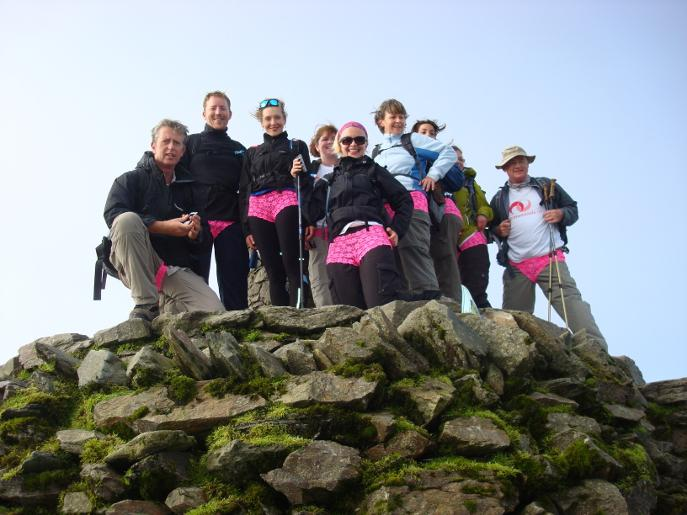 Pink Pants Snowdon Horseshoe fundraisers reach the summit