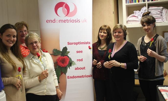 Soroptomists Great Britain and Ireland are working to raise awareness of endometriosis