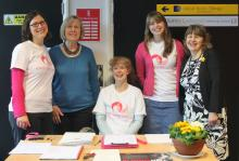 Volunteers at Endometriosis Information Day
